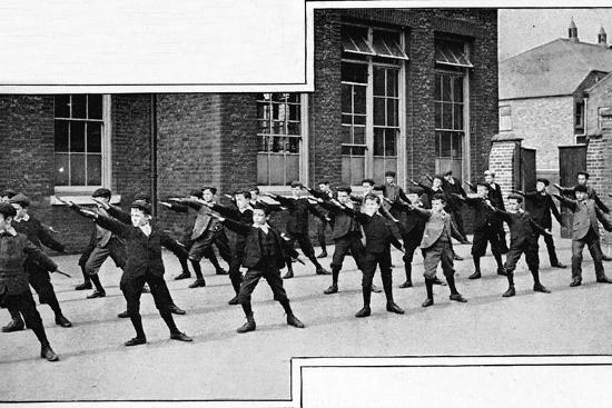 Physical drill at a London school, c1900 (1901)-Unknown-Photographic Print