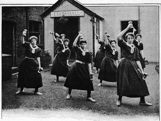 Physical drill at Canning Town Women's Settlement, London, c1901 (1901)-Unknown-Photographic Print