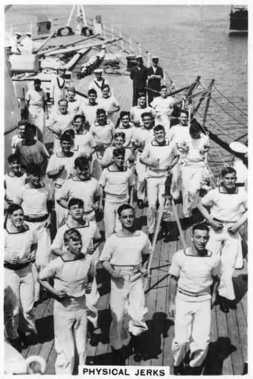 Physical Jerks, Exercise on Board HMS Devonshire, 1937--Giclee Print
