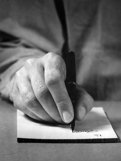 Physician's Hand Writing Prescription-George Marks-Photographic Print