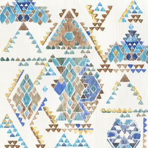 Blue Aztec by PI Creative Art