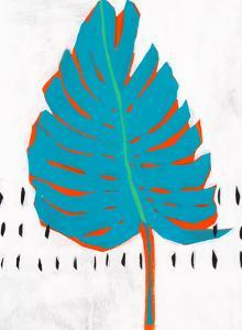 Blue Tropical Leaf I by PI Creative Art