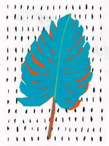Blue Tropical Leaf Ii by PI Creative Art