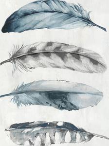 Indigo Feathers I by PI Creative Art