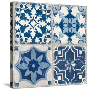 Indigo Mosaic Tile I by PI Creative Art