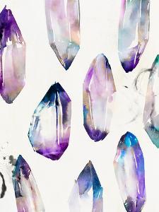 Purple Gemstones Ii by PI Creative Art