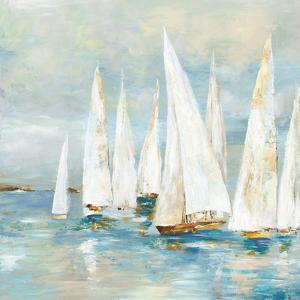 White Sailboats by PI Creative Art