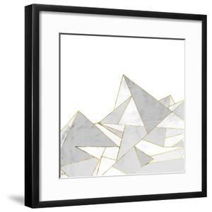 Marbled Geo Mountains II by PI Studio