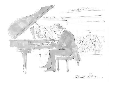 Pianist admiring own image in mirror on piano where sheet music should be. - Cartoon-Bernard Schoenbaum-Premium Giclee Print