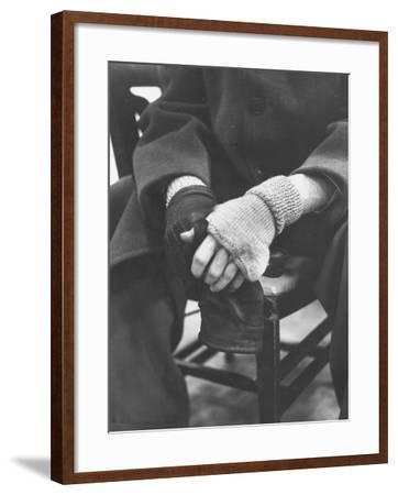 Pianist Glenn Gould in Fingerless Gloves Worn to Keep Hands Supple, Columbia Recording Studio-Gordon Parks-Framed Premium Photographic Print