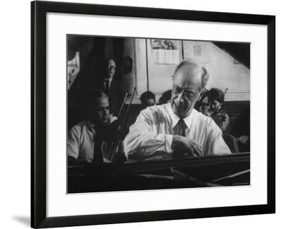 Pianist Rudolf Serkin-Gjon Mili-Framed Premium Photographic Print