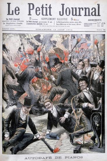 Piano Burning, United States, 1904--Giclee Print