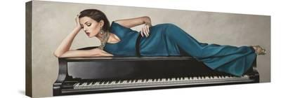 Piano Lady-Sonya Duval-Stretched Canvas Print