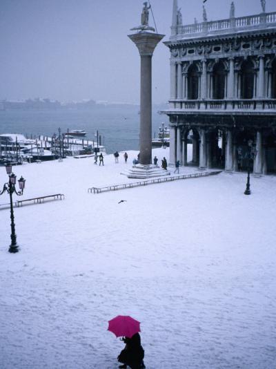 Piazetta of San Marco in Winter, Venice, Veneto, Italy-Roberto Gerometta-Photographic Print