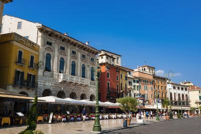 Piazza Bra, Verona, UNESCO World Heritage Site, Veneto, Italy, Europe- Nico-Photographic Print