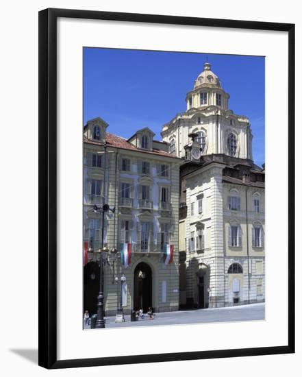 Piazza Castello, Turin, Piedmont, Italy, Europe-Vincenzo Lombardo-Framed Photographic Print