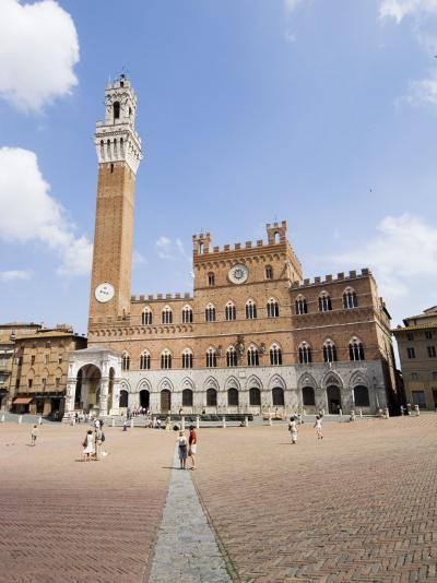 Piazza Del Campo and the Palazzo Pubblico with its Amazing Bell Tower, Siena, Tuscany, Italy-Robert Harding-Photographic Print
