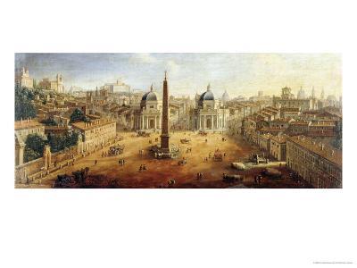 Piazza Del Popolo, Rome- Vanvitelli (Gaspar van Wittel)-Giclee Print