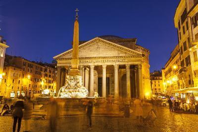Piazza Della Rotonda and the Pantheon, Rome, Lazio, Italy, Europe-Julian Elliott-Photographic Print