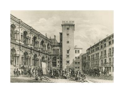 Piazza Delle Erbe in Vicenza--Giclee Print