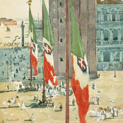 Piazza di San Marco, c.1898–99-Maurice Brazil Prendergast-Giclee Print
