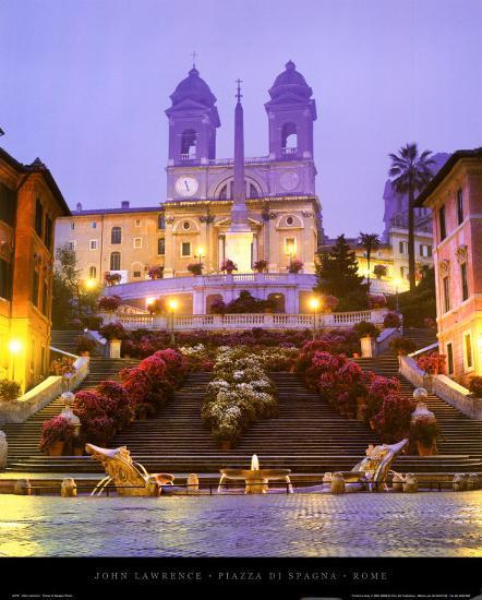 Piazza di Spagna - Rome-John Lawrence-Art Print