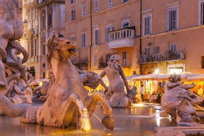 Piazza Navona in Rome, Lazio, Italy, Europe-Julian Elliott-Photographic Print