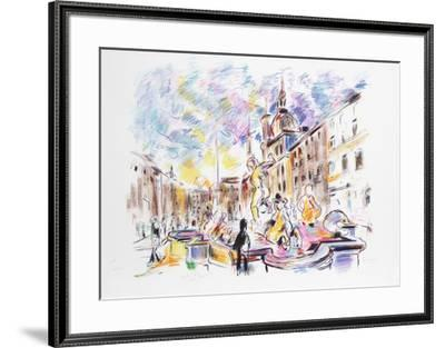 Piazza Navona, Rome-Wayne Ensrud-Framed Limited Edition