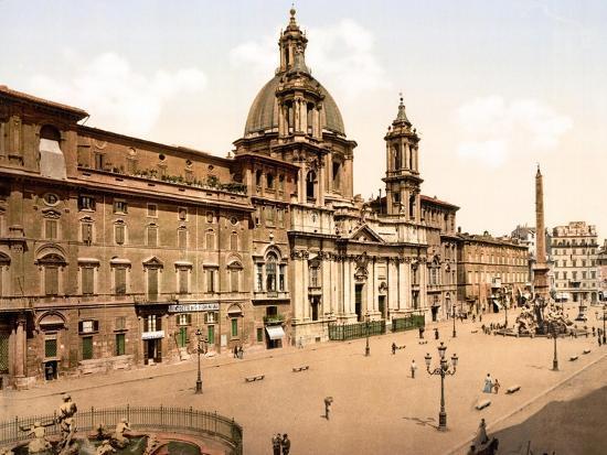 Piazza Navona, Rome--Giclee Print