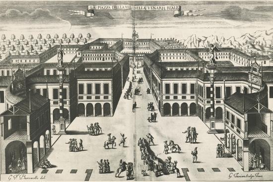 Piazza of Venaria Reale--Giclee Print