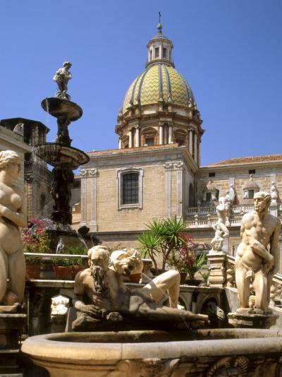 Piazza Pretoria, Palermo, Sicily, Italy-G Richardson-Photographic Print