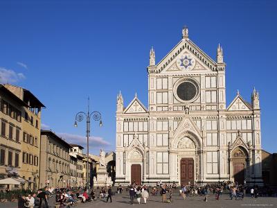 Piazza Santa Croce, Florence, Tuscany, Italy-Hans Peter Merten-Photographic Print