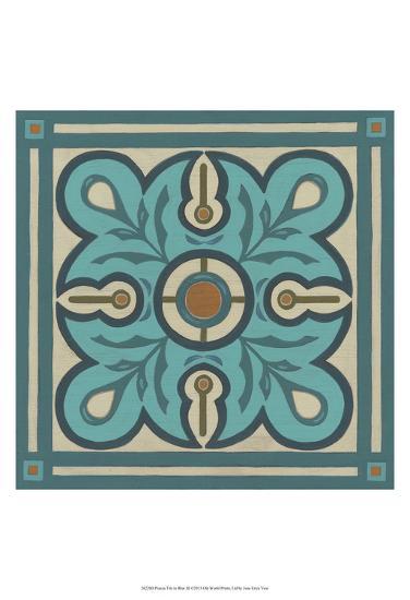 Piazza Tile in Blue III-Erica J^ Vess-Art Print