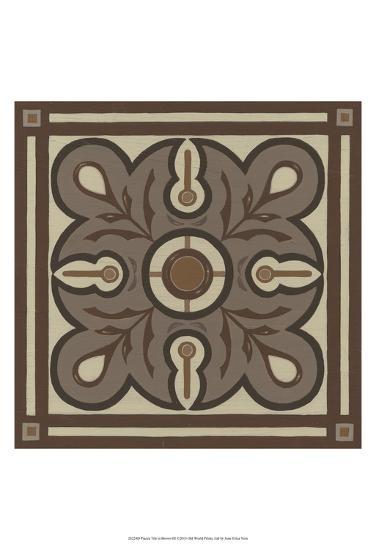 Piazza Tile in Brown III-Erica J^ Vess-Art Print