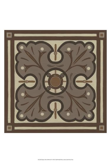Piazza Tile in Brown IV-Erica J^ Vess-Art Print