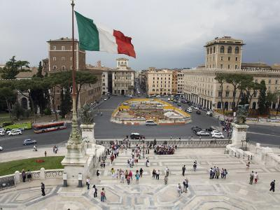 Piazza Venezia from the Steps of the Vittorio Emanuele II Monument-Scott Warren-Photographic Print