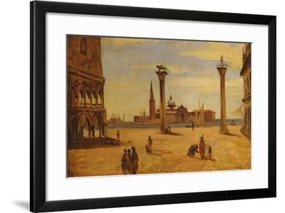 Piazzetta Di San Marco, Venice, 1828-34-Jean-Baptiste-Camille Corot-Framed Giclee Print