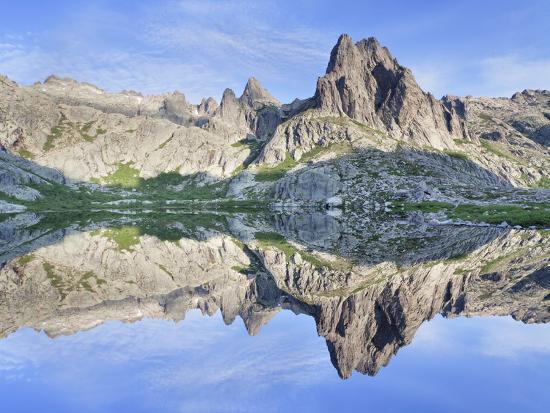 Pic Lombarduccio Reflecting in Lac De Melo-Markus Lange-Photographic Print