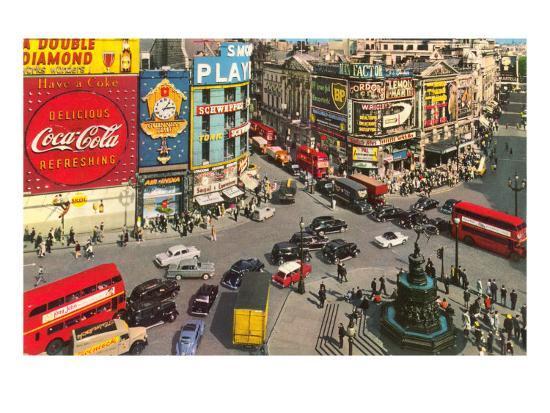 Picadilly Circus, London, England--Art Print