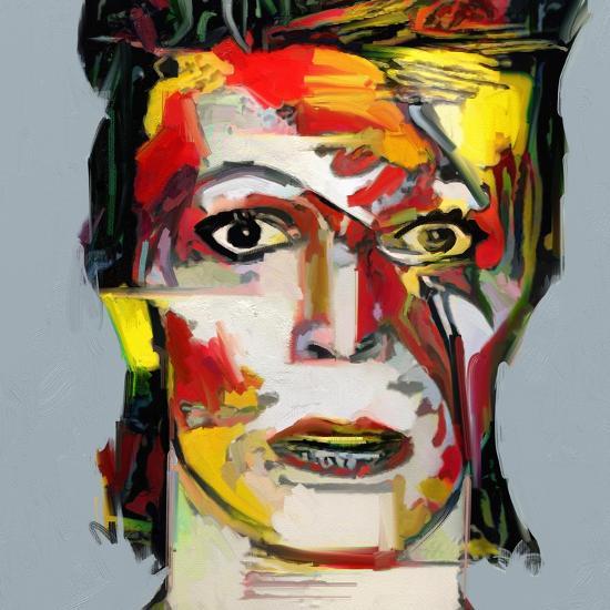 Picasso Reimagined - David Bowie 2-Mark Gordon-Premium Giclee Print