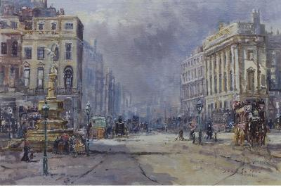 Piccadilly Circus in Victorian Times, 2008-John Sutton-Giclee Print