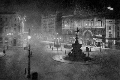 Piccadilly Circus, London, at Night, 1908-1909-Charles F Borup-Giclee Print