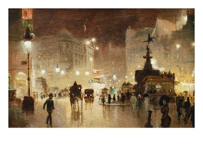 Piccadilly Circus, London-George Hyde-Pownall-Giclee Print