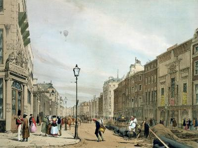 """Piccadilly from the Corner of Old Bond Street, from """"London as it Is""""-Thomas Shotter Boys-Giclee Print"""