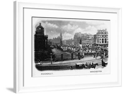 Piccadilly, Manchester--Framed Photographic Print
