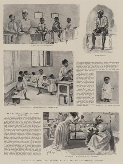 Piccaninny Patients, the Children's Ward in the General Hospital, Barbados--Giclee Print