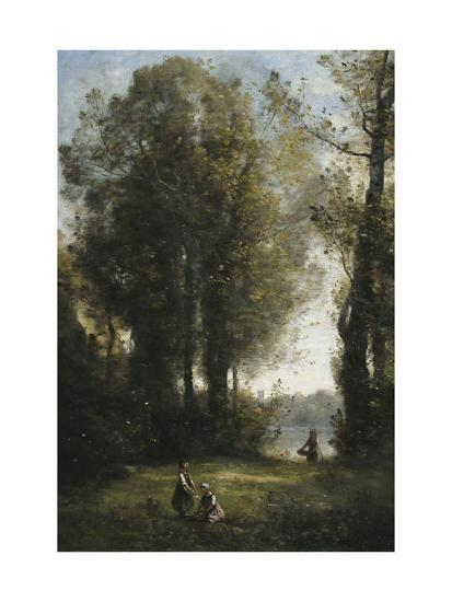 Picking Daisies-Jean-Baptiste-Camille Corot-Giclee Print