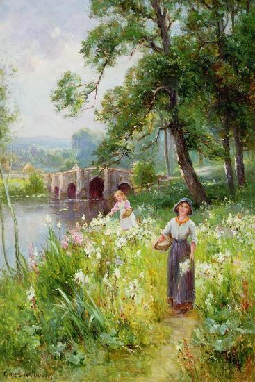 Picking Flowers by the River-Ernest Walbourn-Giclee Print