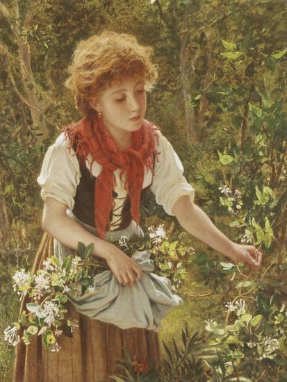 Picking Honeysuckle-Sophie Anderson-Giclee Print