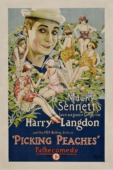 PICKING PEACHES, Harry Langdon with the 1924 Bathing Girls, 1924.--Art Print